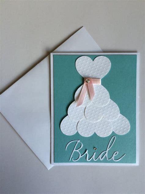 Handmade Bridal Shower Cards - bridal shower card wedding dress card to be card