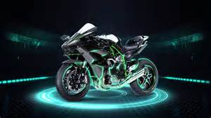 kawasaki powerpoint template the motorcycle on a black background wallpaper hd