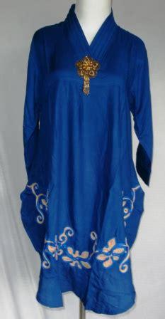Baju Murah Grosir Tanah Abang Blouse Army 2 Warna Green Blue blouse sulam bunga grosir baju murah tanah abang