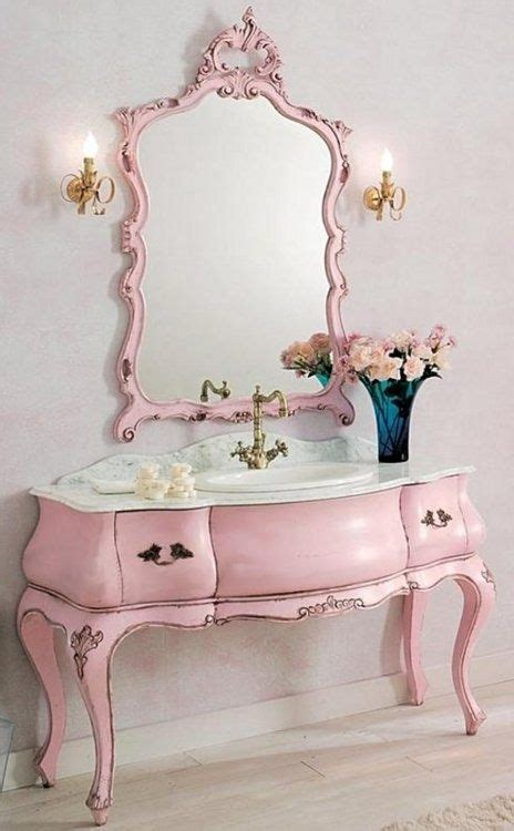 Pink Bathroom Mirror 32 Feminine Bathroom Furniture And Appliances Ideas Digsdigs