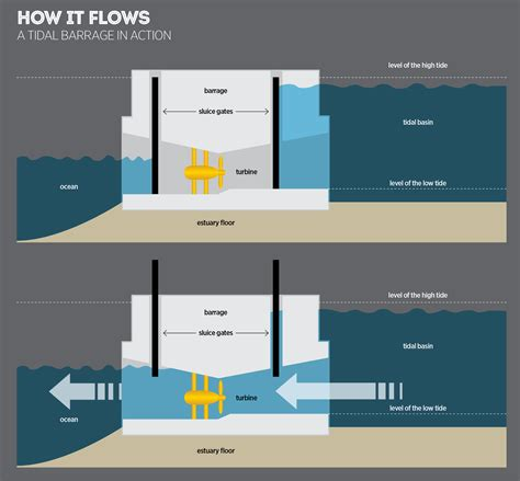 tidal barrage diagram tidal bore energy how its harnessed the new economy