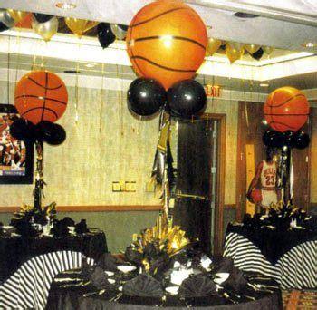 sports themed graduation party basketball centerpiece