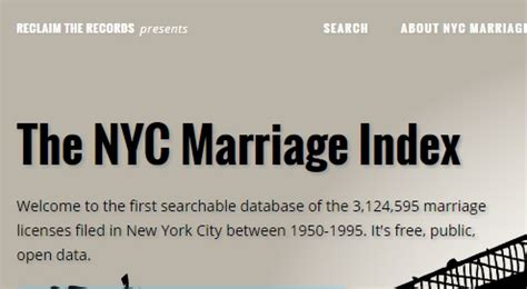 New York City Marriage Records Search New York City Marriage Index Website 171 Genealogy Search Tip