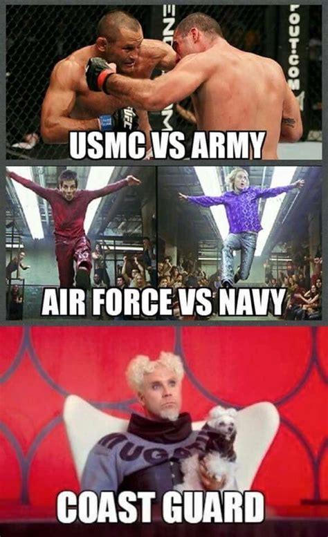Usmc Memes - usmc vs army air force vs navy coast guard military