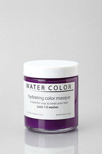 water color hydrating hair color mask hydrating quot water color quot hair mask temporary color that