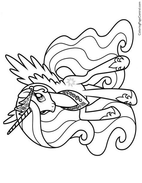 Celestia My Little Pony Coloring Pages Princess Celestia Coloring Free Coloring Sheets