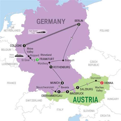 austria germany map best of germany austria trafalgar frankfurt vienna