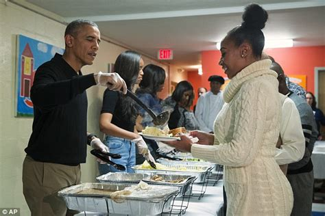 obamas thanksgiving barack obama and wife michelle serve thanksgiving dinner