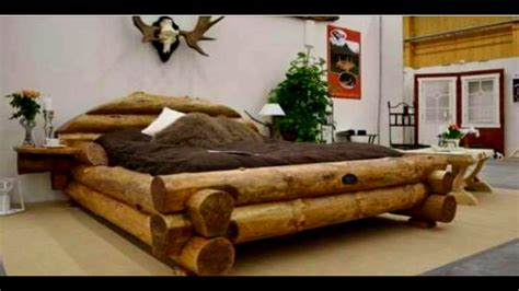 unique bed frames 40 wood bed made ideas 2017 unique bed frame log