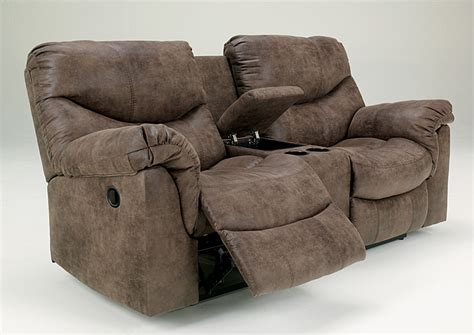 double reclining loveseat w console ivan smith alzena gunsmoke double reclining power loveseat