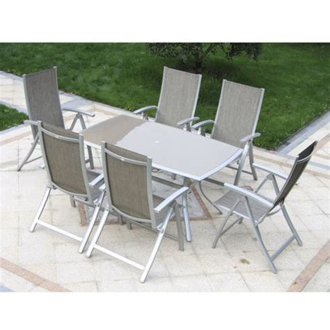 Outdoor Dining Sets Tesco Buy Outsunny 7pc Garden Table Chairs Set Outdoor Dining