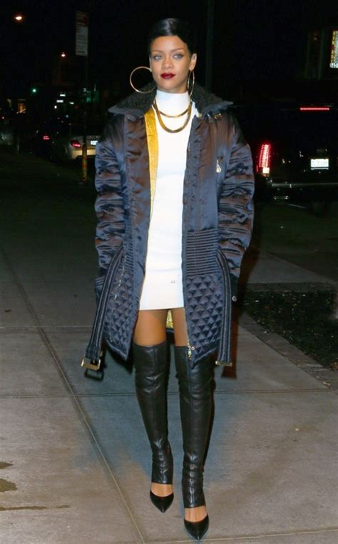rihanna in thigh high boot hybrids or not