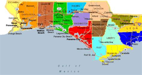 map of the panhandle of florida map of panhandle and west image gallery panhandle map