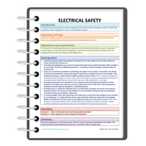 tool box talk for electrical safety free darley pcm