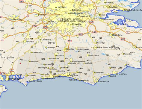 map uk south south harting map and road maps of sussex uk