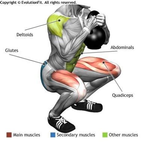 what muscle groups do kettlebell swings work quadriceps globet squat kettlebell workout