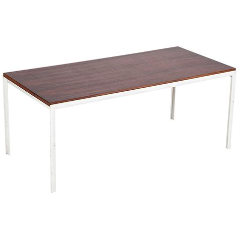 florence knoll coffee table rosewood t angle iron 1956