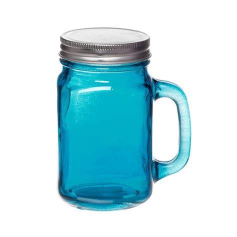 Leo & Bella   Mason Jar Square Glass With Handles Drinking