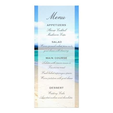 custom menu template wedding menu template custom announcement