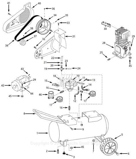 air compressor parts diagram cbell hausfeld vs500900 parts diagram for air