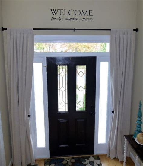 diy sidelight curtains 25 best entryway quotes on pinterest front hallway