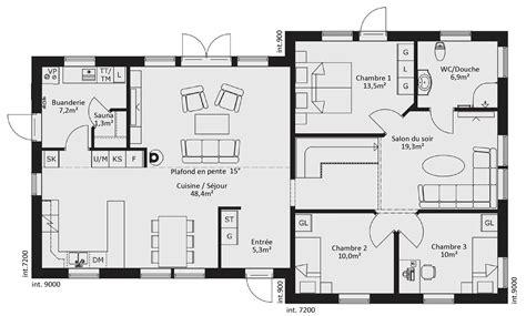 plan maison en l 4 chambres source d inspiration plan maison 4 chambres luxe design