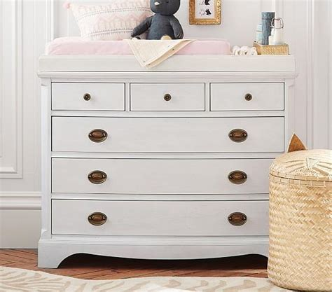 White Changing Table Dresser Avalon White Wide Dresser And Hutch Set