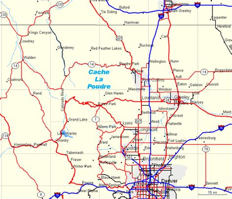 map of northeast colorado northeast colorado raft trips map