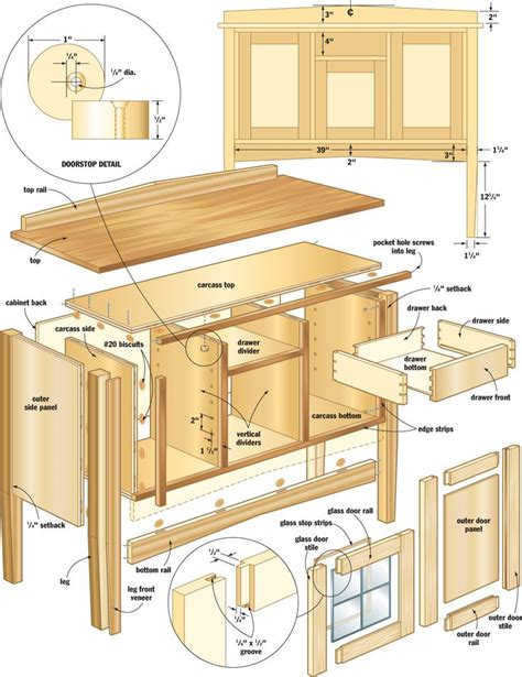 cabinet blueprints  woodworking projects plans