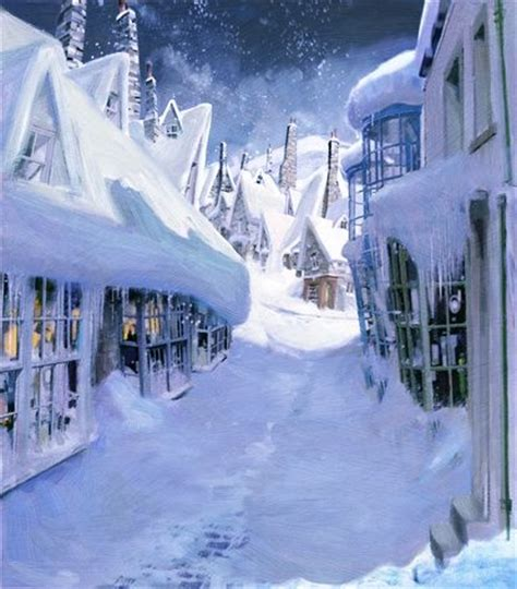 harry potter winter at 1406376086 jimsalvati lindgrensmith landscape winter snow hogsmeade diagonalley harrypotter