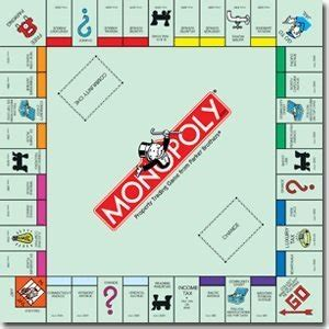 layout of monopoly board game amazon com monopoly classic replacement board by hasbro
