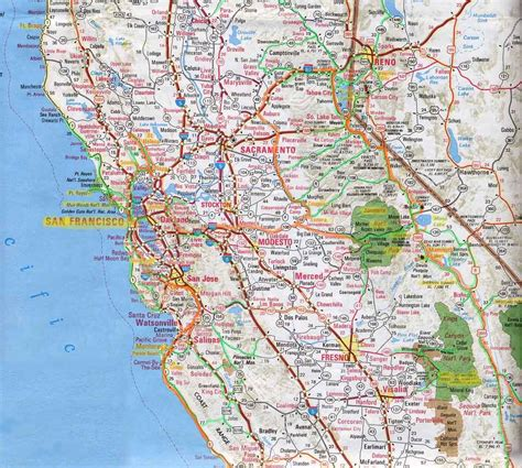 california map road northern california