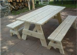 Wood Picnic Table Without Benches » Home Design 2017