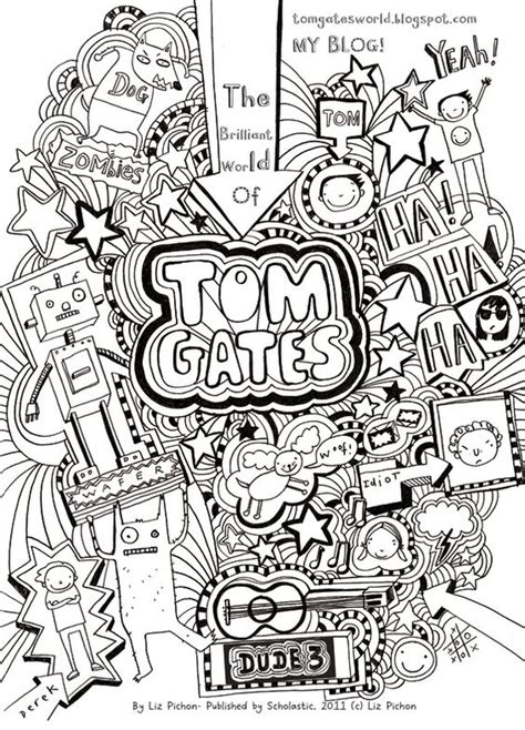 doodle sign up form tom gates colouring sheet my s hobbies