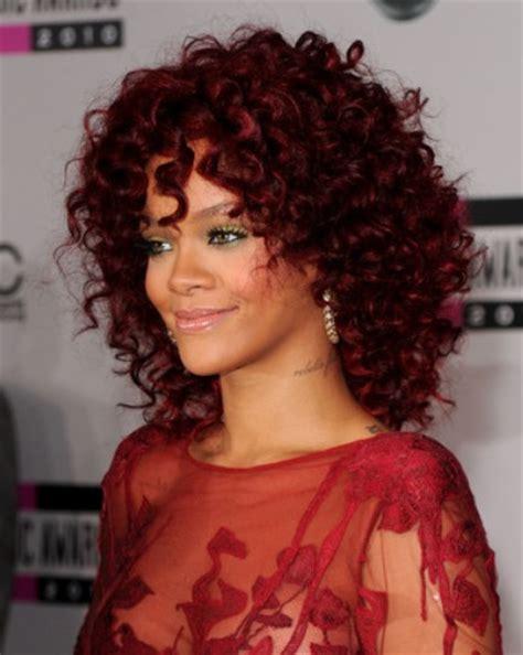 curly hairstyles rihanna rihanna medium curly hairstyles 2012 popular haircuts