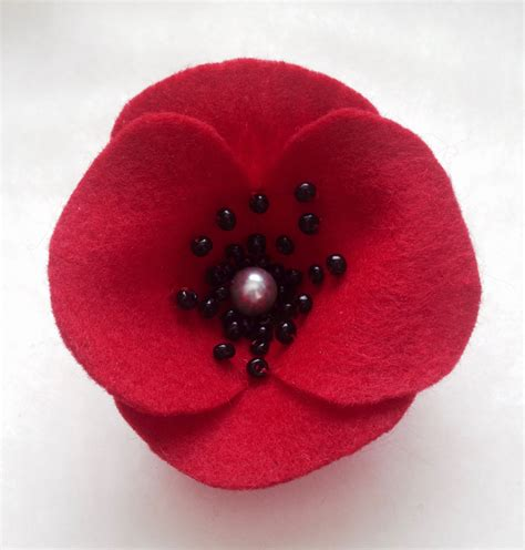 pattern for felt poppy pattern felt poppy flower embellishment