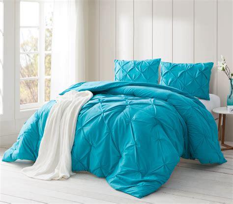Blue Xl Comforter by Peacock Blue Pin Tuck Xl Comforter