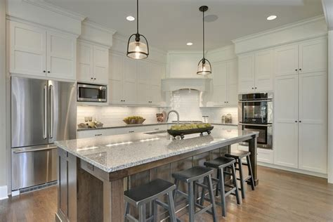 white wooden kitchen island with gray marble counter top new caledonia granite countertops trendy gray shades in