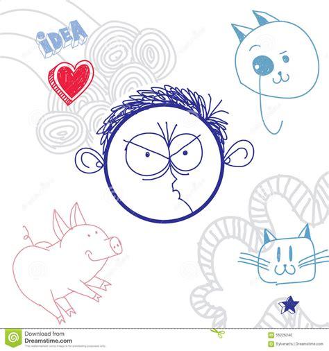 education theme drawing vector hand drawn cartoon angry boy education theme