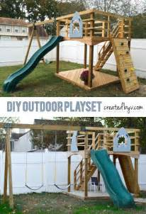 Diy Home Playground Ideas Diy Outdoor Playset Www Createdbyv Outdoors