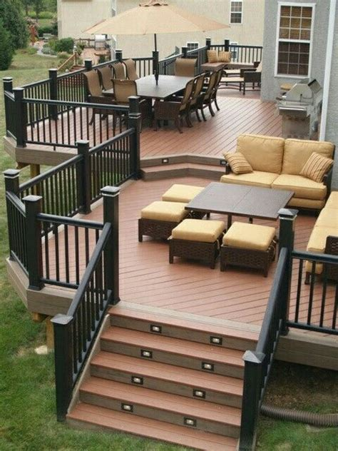 decks and patios designs 25 best ideas about two level deck on tiered