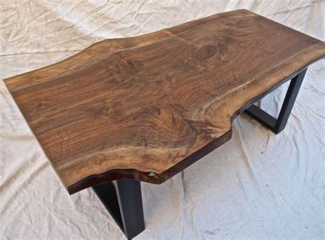 crafted live edge walnut coffee table by witness tree