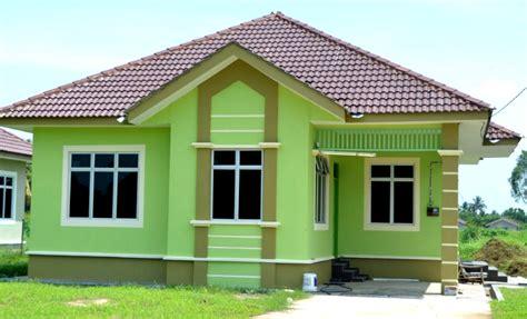 perpaduan  warna cat rumah minimalis tampilan depan rumah