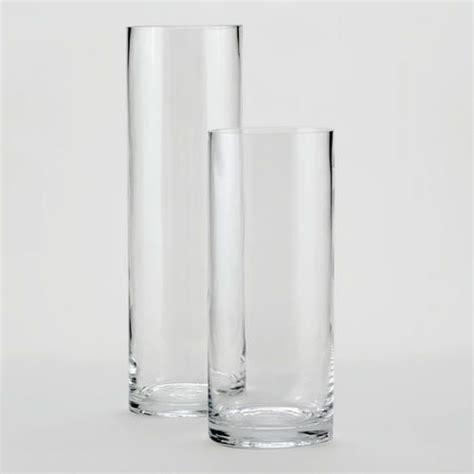 clear glass cylinder vases decor