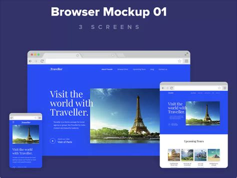web design mockup exle business web design homepage photorealistic web browser