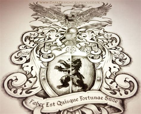 tattoos for graphic designers creating your own coat of arms design graphics