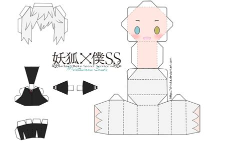 Anime Chibi Papercraft - miketsukami soushi chibi papercraft by driickaa on