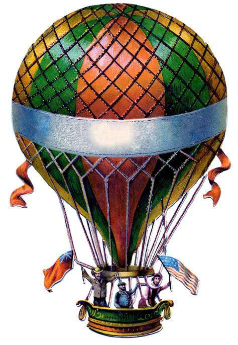 antique graphic hot air balloon steampunk  graphics fairy