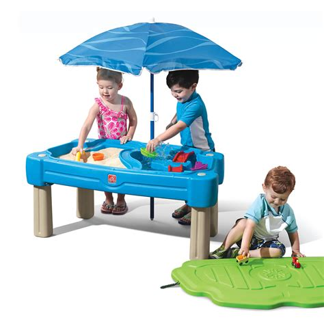 Step 2 Water Table With Umbrella by Cascading Cove Sand Water Table Sand Water By Step2