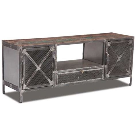 Industrial Metal Tv Cabinet by Best 20 Industrial Tv Stand Ideas On